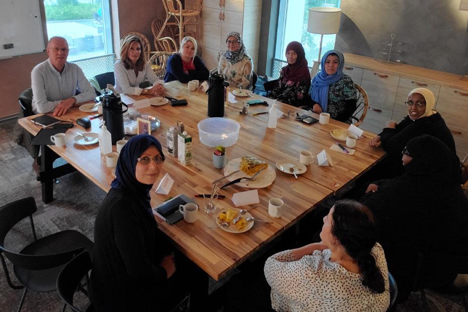 Stockholm-Sergel RK på språkcafé med Yalla Rinkeby
